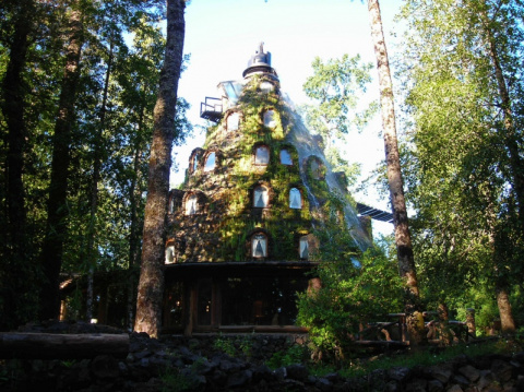 """Отель-водопад """"Волшебная гора"""" в Чили"""