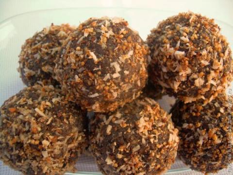 Домашние конфеты с арахисом