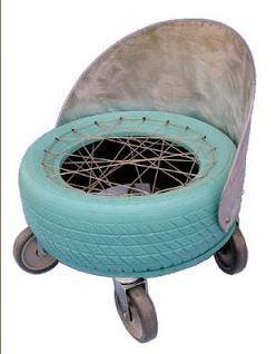 Мебель из старых шин