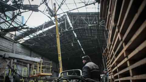 Эпицентром мощного взрыва в Донецке стал военный химзавод