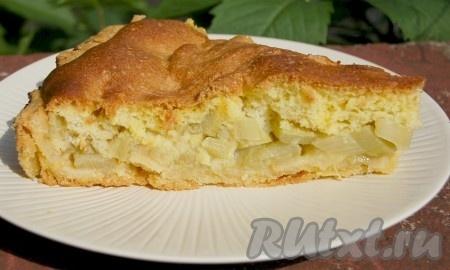 Пирог из ревеня.
