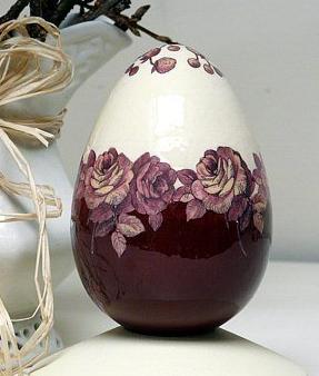 Декупаж. Элегантное пасхальное яичко.