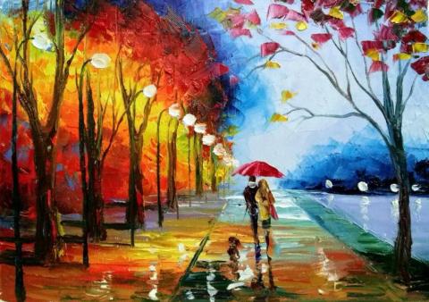 Осенние прогулки в живописи Ольги Дарчук
