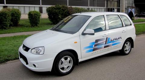 Электромобиль Лада Веста сошел с конвейера АвтоВАЗ