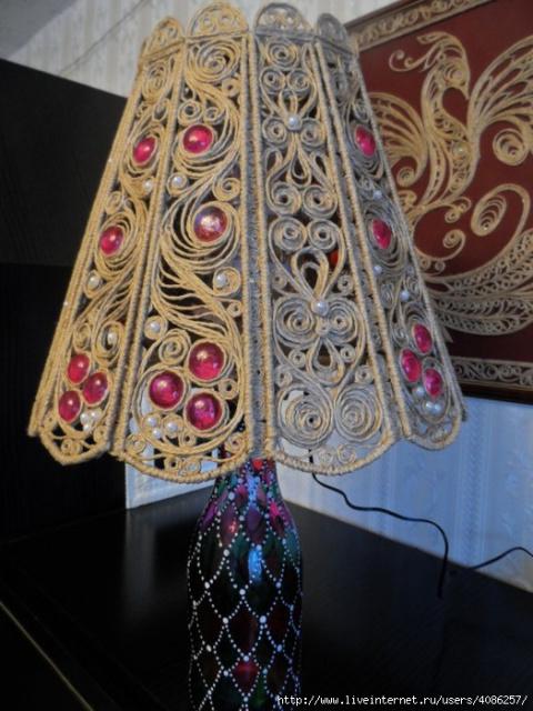 МАСТЕРИЛКА. Оригинальный светильник в технике филигрань
