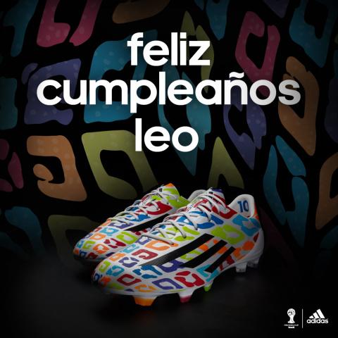 Adidas поздравил Месси с днем рождения и подарил кроссовки