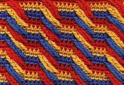 В копилку - интересные многоцветные узоры для вязания крючком