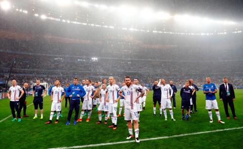Как сборная Исландии попроща…