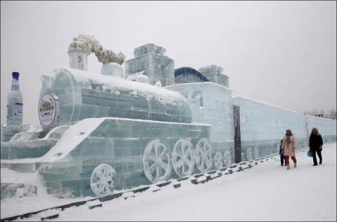 Международный ледовый фестиваль в Харбине 2015