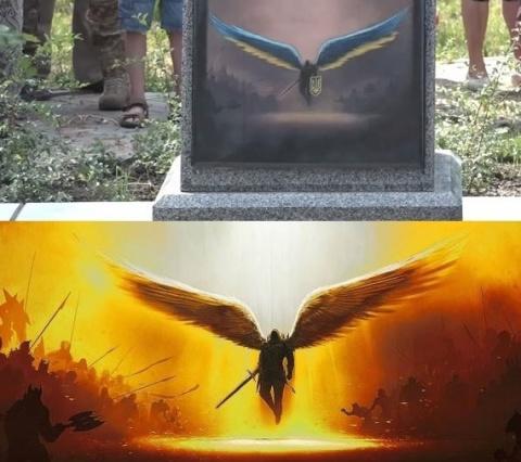 На памятнике погибшим в Донб…
