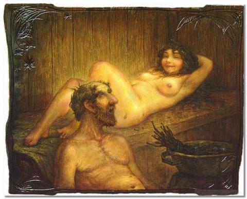 Русская баня по-черному