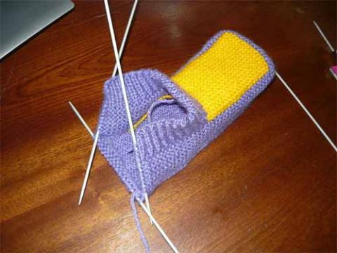Еще один способ вязания тапочек