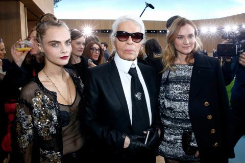 Знаменитости на шоу Chanel Couture весна-лето 2016