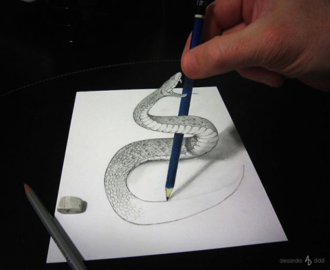 Невероятные иллюзии в рисунках Alessandro Diddi