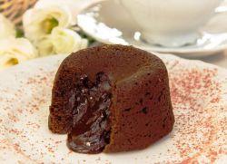 Шоколадные маффины с жидкой …
