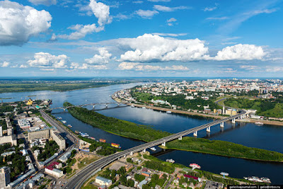 Нижний Новгород с вертолета …
