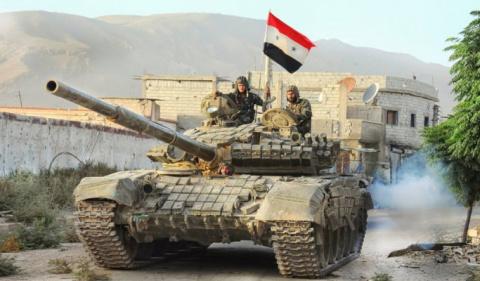 Бронетехника сирийской армии…