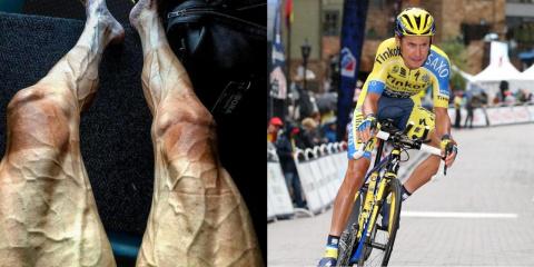Ноги велосипедиста после 300…