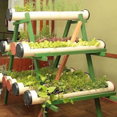 Сад для пряных трав из ПВХ труб
