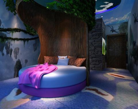 Оригинальный дизайн спального места