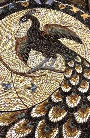 Мозаика из морской гальки
