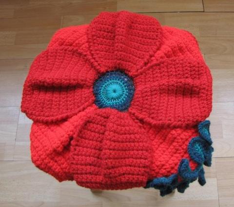 Цветочные подушки-сидушки