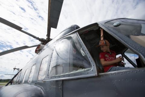 Под винтом вертолета