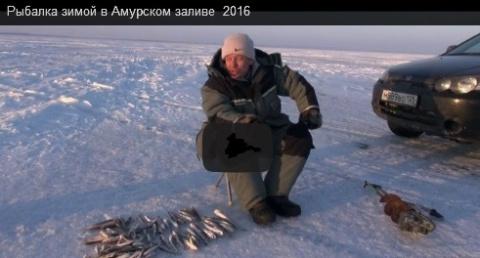 морская рыбалка зимой.