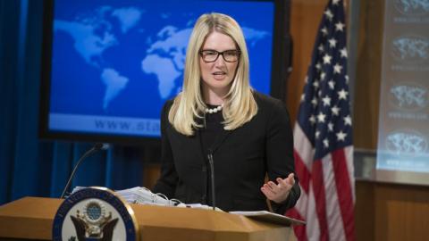 «Купился на российскую пропаганду»: Мари Харф озадачил «тон» вопроса Мэтта Ли об учениях НАТО