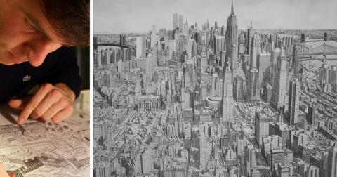 Пейзажи городов, написанные по памяти