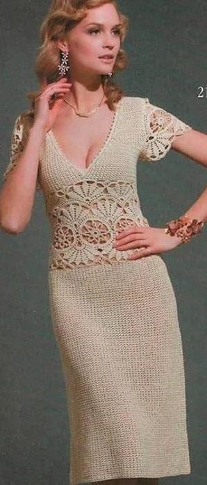 Элегантное платье крючком