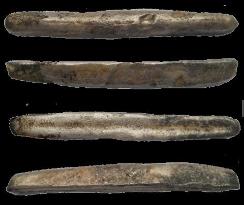 Гривны имели вид слитков. Части гривны – векша, ногата, куна.