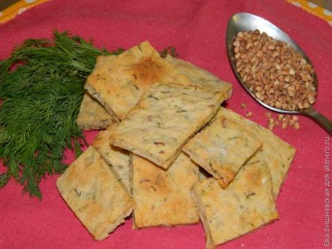 Печенья-хлебцы на гречке