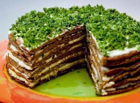 Самый вкусный печёночный тортик!