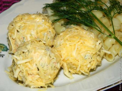 Куриный салат в шариках