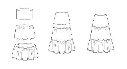 Выкройка юбки от Victoria's Secret