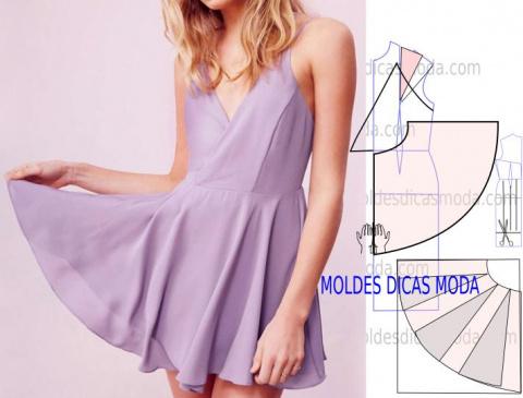 Моделирование: Сиреневое платье