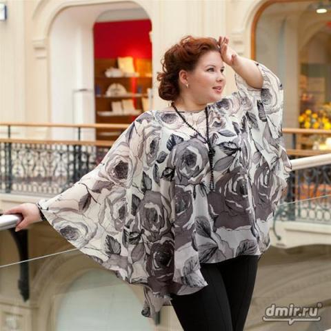 Блуза разлетайка - идеи для кроя.  Как одеваться женщинам с пышными формами.