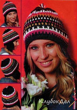 Вязаная шапочка с ушками