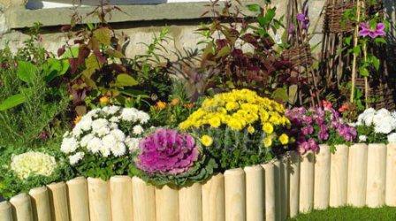 Сад, цветник и огород. Изгородь для клумбы - делаем сами