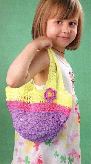 ВЯЖЕМ... Детскую сумочку-корзинку