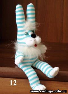 Заяц из носков