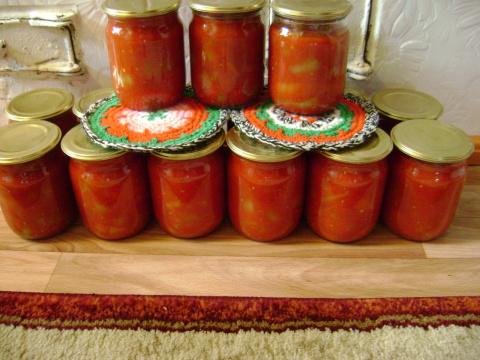 Лечо из перца и томатов