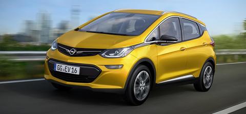 Opel представит новый электрокар Ampera-e в 2017 году