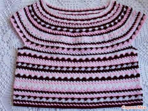 Красивый узор для вязания одежды крючком