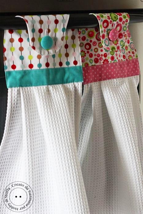 Красивые кухонные полотенца. МК