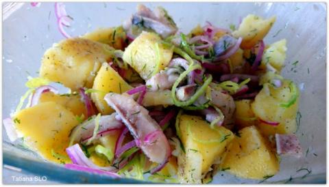 Картошка с селёдочкой