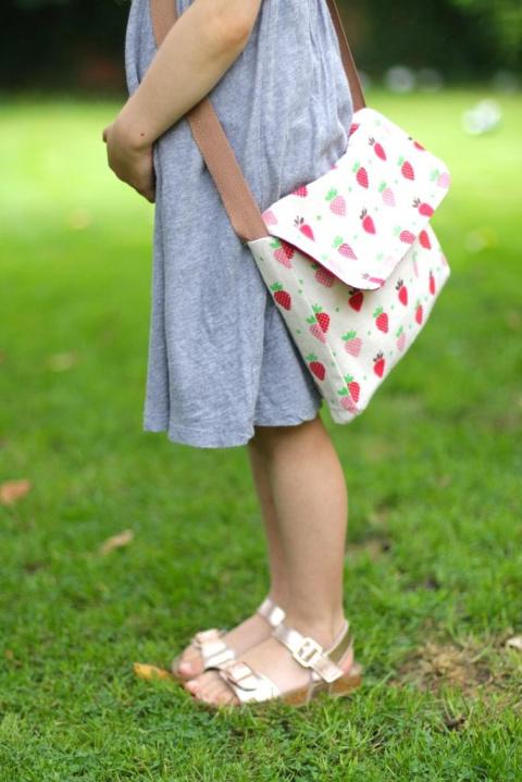 Как сшить простую детскую сумку