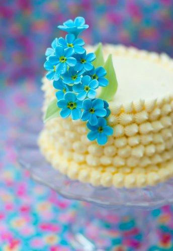 Украшение для торта - незабудки из мастики