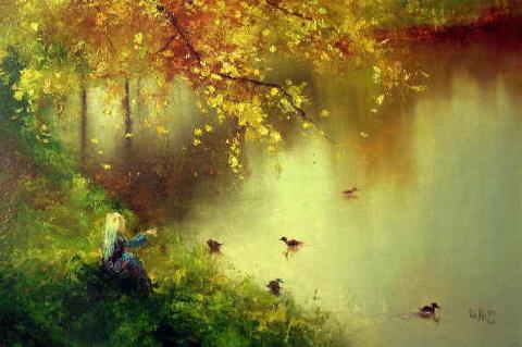 Расплакалась от счастья осень... Художник Игорь Медведев